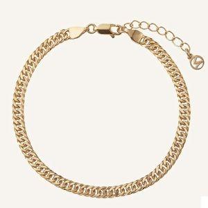 Mejuri Double Curb Chain Gold Bracelet